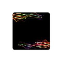 Colorful Light Frame Line Square Magnet