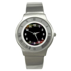 Colorful Light Frame Line Stainless Steel Watch