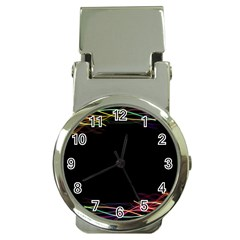 Colorful Light Frame Line Money Clip Watches