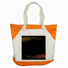 Colorful Light Frame Line Accent Tote Bag