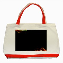 Colorful Light Frame Line Classic Tote Bag (Red)