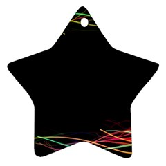 Colorful Light Frame Line Star Ornament (Two Sides)