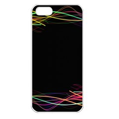 Colorful Light Frame Line Apple iPhone 5 Seamless Case (White)