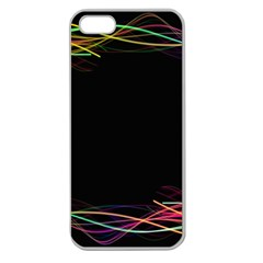 Colorful Light Frame Line Apple Seamless iPhone 5 Case (Clear)