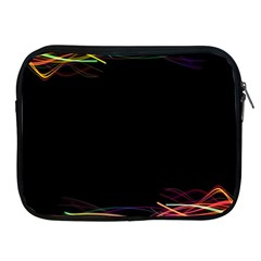 Colorful Light Frame Line Apple iPad 2/3/4 Zipper Cases