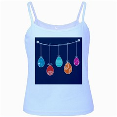 Easter Egg Balloon Pink Blue Red Orange Baby Blue Spaghetti Tank