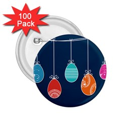 Easter Egg Balloon Pink Blue Red Orange 2 25  Buttons (100 Pack)