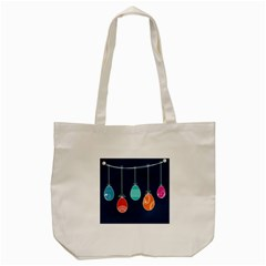 Easter Egg Balloon Pink Blue Red Orange Tote Bag (cream)