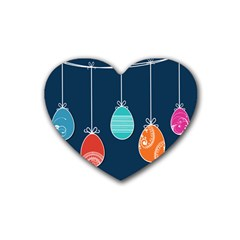Easter Egg Balloon Pink Blue Red Orange Heart Coaster (4 pack)