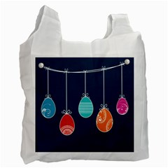 Easter Egg Balloon Pink Blue Red Orange Recycle Bag (One Side)