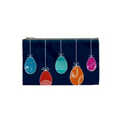 Easter Egg Balloon Pink Blue Red Orange Cosmetic Bag (Small)