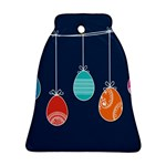 Easter Egg Balloon Pink Blue Red Orange Ornament (Bell) Front
