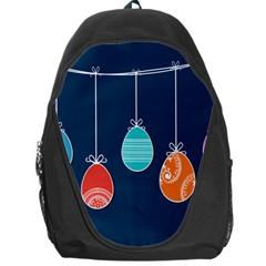 Easter Egg Balloon Pink Blue Red Orange Backpack Bag