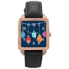 Easter Egg Balloon Pink Blue Red Orange Rose Gold Leather Watch