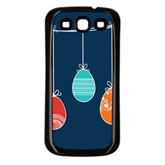 Easter Egg Balloon Pink Blue Red Orange Samsung Galaxy S3 Back Case (Black)