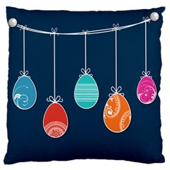 Easter Egg Balloon Pink Blue Red Orange Large Flano Cushion Case (One Side)