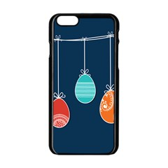Easter Egg Balloon Pink Blue Red Orange Apple iPhone 6/6S Black Enamel Case