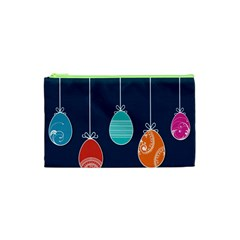 Easter Egg Balloon Pink Blue Red Orange Cosmetic Bag (XS)