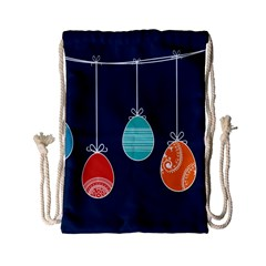 Easter Egg Balloon Pink Blue Red Orange Drawstring Bag (Small)