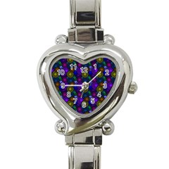 Circles Color Yellow Purple Blu Pink Orange Heart Italian Charm Watch