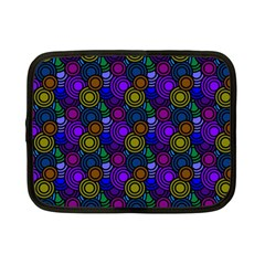 Circles Color Yellow Purple Blu Pink Orange Netbook Case (Small)