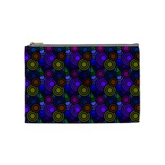 Circles Color Yellow Purple Blu Pink Orange Cosmetic Bag (Medium)