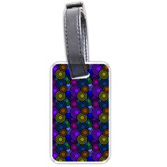 Circles Color Yellow Purple Blu Pink Orange Luggage Tags (Two Sides)