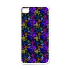 Circles Color Yellow Purple Blu Pink Orange Apple iPhone 4 Case (White)