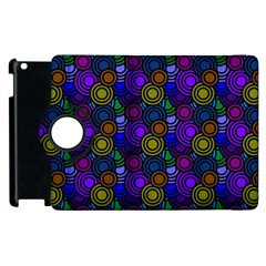 Circles Color Yellow Purple Blu Pink Orange Apple iPad 3/4 Flip 360 Case