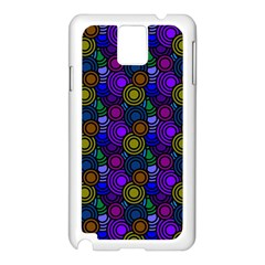 Circles Color Yellow Purple Blu Pink Orange Samsung Galaxy Note 3 N9005 Case (White)