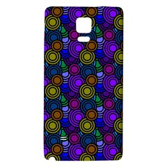 Circles Color Yellow Purple Blu Pink Orange Galaxy Note 4 Back Case