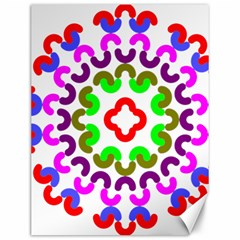 Decoration Red Blue Pink Purple Green Rainbow Canvas 12  x 16