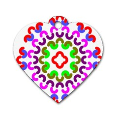 Decoration Red Blue Pink Purple Green Rainbow Dog Tag Heart (Two Sides)