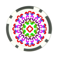 Decoration Red Blue Pink Purple Green Rainbow Poker Chip Card Guard