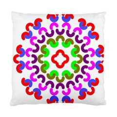 Decoration Red Blue Pink Purple Green Rainbow Standard Cushion Case (One Side)