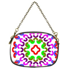 Decoration Red Blue Pink Purple Green Rainbow Chain Purses (two Sides)