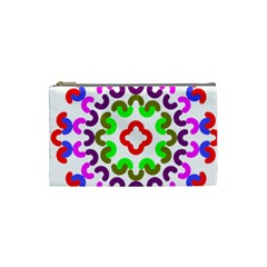 Decoration Red Blue Pink Purple Green Rainbow Cosmetic Bag (Small)
