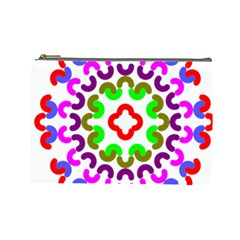 Decoration Red Blue Pink Purple Green Rainbow Cosmetic Bag (Large)