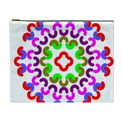 Decoration Red Blue Pink Purple Green Rainbow Cosmetic Bag (XL)