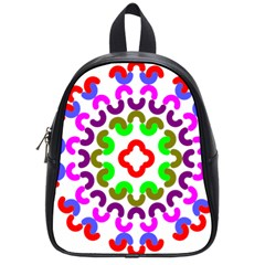 Decoration Red Blue Pink Purple Green Rainbow School Bags (small)