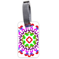 Decoration Red Blue Pink Purple Green Rainbow Luggage Tags (One Side)