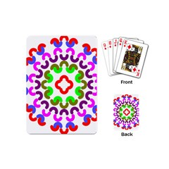 Decoration Red Blue Pink Purple Green Rainbow Playing Cards (Mini)