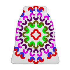Decoration Red Blue Pink Purple Green Rainbow Ornament (Bell)