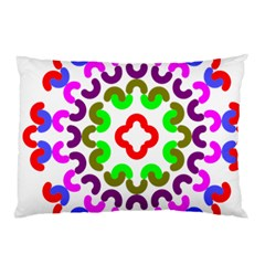 Decoration Red Blue Pink Purple Green Rainbow Pillow Case (Two Sides)