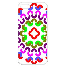 Decoration Red Blue Pink Purple Green Rainbow Apple iPhone 5 Seamless Case (White)