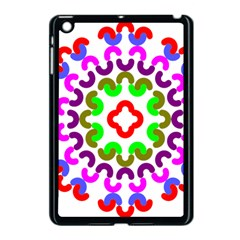 Decoration Red Blue Pink Purple Green Rainbow Apple iPad Mini Case (Black)