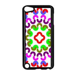 Decoration Red Blue Pink Purple Green Rainbow Apple iPod Touch 5 Case (Black)