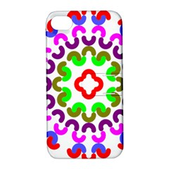 Decoration Red Blue Pink Purple Green Rainbow Apple iPhone 4/4S Hardshell Case with Stand