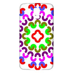 Decoration Red Blue Pink Purple Green Rainbow Samsung Galaxy S5 Back Case (White)