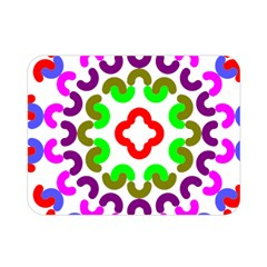 Decoration Red Blue Pink Purple Green Rainbow Double Sided Flano Blanket (Mini)